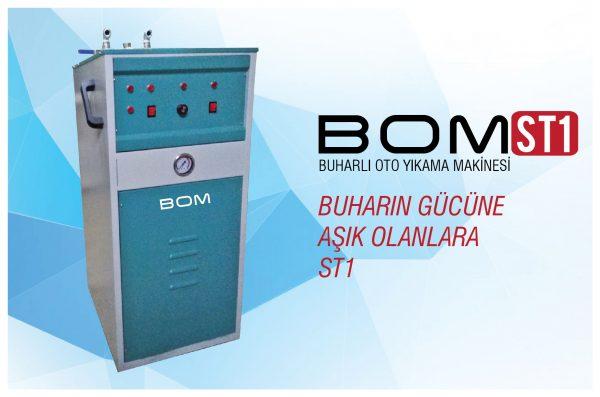 Bom STI Buharlı Oto Yıkama Makinası